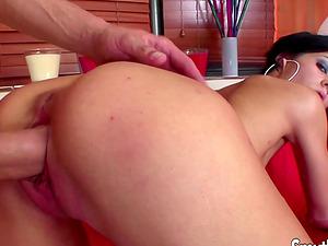 Teen girl Jenna Moretti getting rammed with big cock
