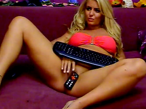 Blonde naughty sticks remote