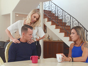 Katie Morgan is a stunning blonde yearning a man's prick