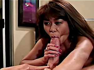 Leanni Lei gets her cunt ate and drilled by Peter North and Richi Rich
