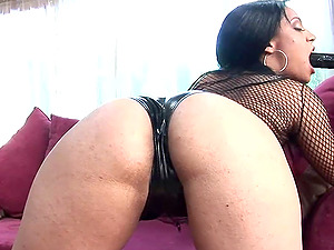 Aaliyah Brown has a blast with a big dildo and a massive cock