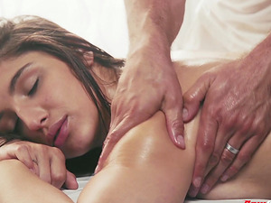 Abella Danger enjoys a massage and a fuck with a hot masseur
