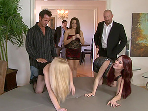 Jessica Ryan and Charity Bangs join a chick for an orgy