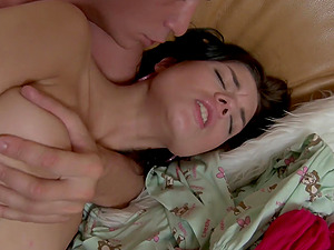Sweet Jamie does not mind being ravished by a horny lover