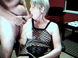 Very old yet still horny couple having a kinky wild time in front of the webcam