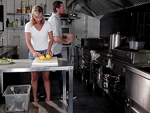 Cecilia De Lys enjoys a hardcore pounding session in a kitchen