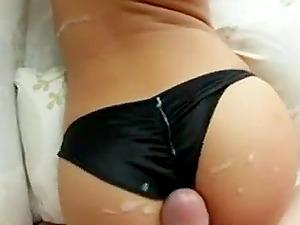 Cum on ass and panties compilation