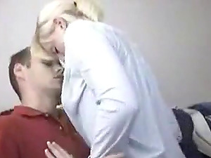 Hot blonde girlfriend plays with big cock of her man