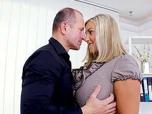 Krystal Swift is a busty blonde seduced by a horny lover