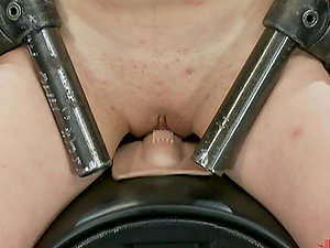 Chained Ginger-haired Getting Fucked By a Machine