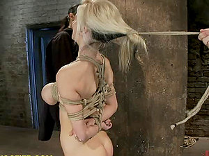 Big Tit Fucksluts Popping Out While Frog-tied and Screwed