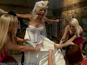 Dirty Bride Gets Tantalized in The Basement