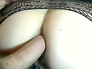 Huge dick closeup anal and pussy sex from behind with a hot girl in black lingerie