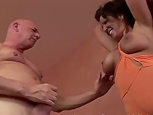 Nasty brunette slut offers her pussy hole to a fellow