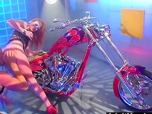 Biker Chick Audrey Hollander Gets Hard Anal