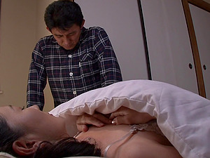 Japanese mature woman attacked by an insatiable lover