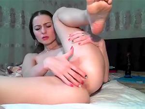 Ukrainian camslut get double orgasm