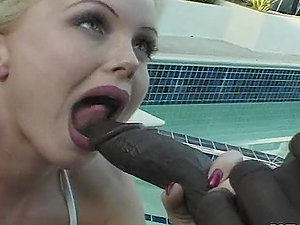 Silvia Saint gets her caboose and beaver fucked by big black man sausage
