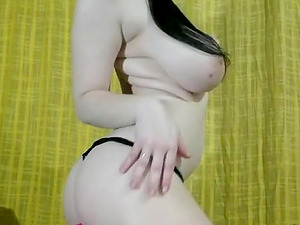 Naughty girl with MONSTER tits teasing on cam