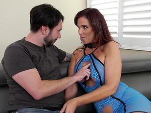 Double anal gangbang with Syren De Mer who has her face creamed