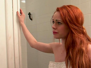 Fiery redhead Ella Hughes having her pussy tongued and poked
