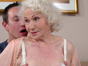 Undressing the granny Norma for some wild steamy pussy dicking