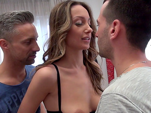 Anal threesome with hot Hazel Dew who is incredibly salacious