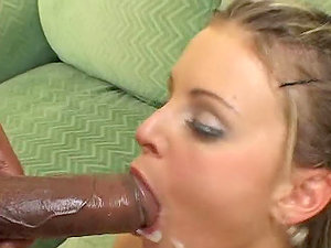 Big-chested tattooed honey gets it dual and black