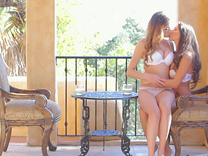 Passionate threesome with Victoria Rae Black and another bombshell