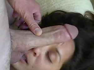 Dirty talking wife begging her husband to cum on her face.