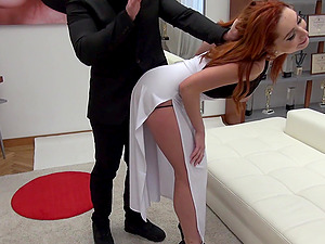 Redhead Mia Cruise likes a good reverse cowgirl fucking with her man