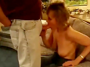 Prudish wife persuaded by hubby to make a clip