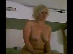 Hidden cam with mature hot escort