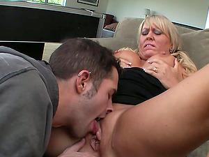 Big Tit Blonde Mom Fucked Beside Pool Table