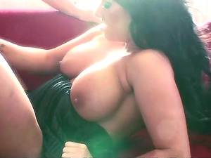 Stunning chick Kerry Louise gets her tight cunt drilled by a friend