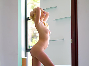 Cute Bailey Brooke satisfies a neighbor by fucking with him