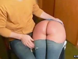 Enema and spanking for slut Naomi 19