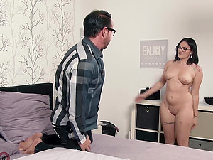 Chubby German slut fucks her uncle