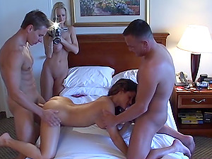Jake have a wife swapping foursome swinger fuck session with Ira and Staci