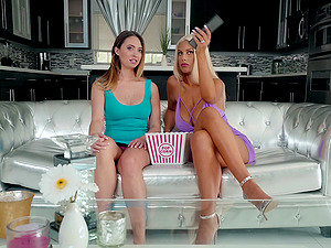 Cute Bridgette B and her hot friend like to play with big sex toys