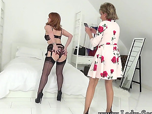 Lady Sonia And Her Red XXX Play Together