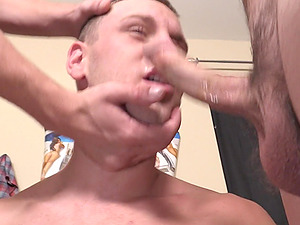 Fucking with two naughty gay friends makes this twink happy