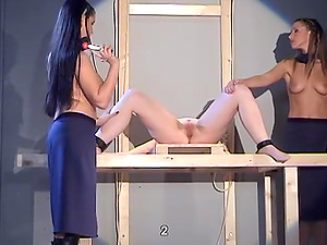 Naughty girls like to strip before some of them get punished