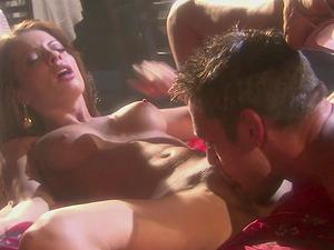 Vanessa Lane and Jasmine Byrne get their wet pussies pleased