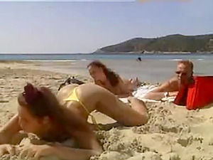 Sex on the beach on a hot summer day