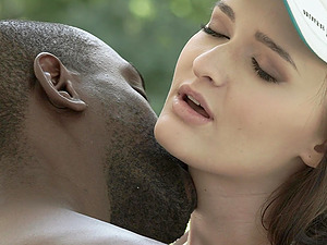 Big load of black cock makes Sasha Sparrow happier than anything