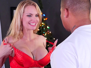 Strong black guy gets to fuck kinky Rachael Cavalli in different poses
