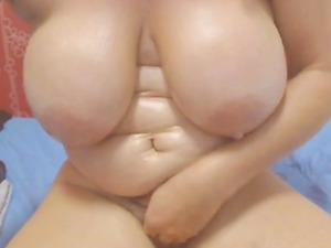Hot Colombian granny teasing on webcam