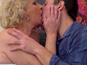 Young guy agrees to please granny Ilya by fucking her roughly