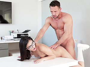 Emily Willis likes to moan while a handsome guy fucks her